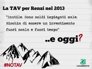 Renzi No Tav nel 2013
