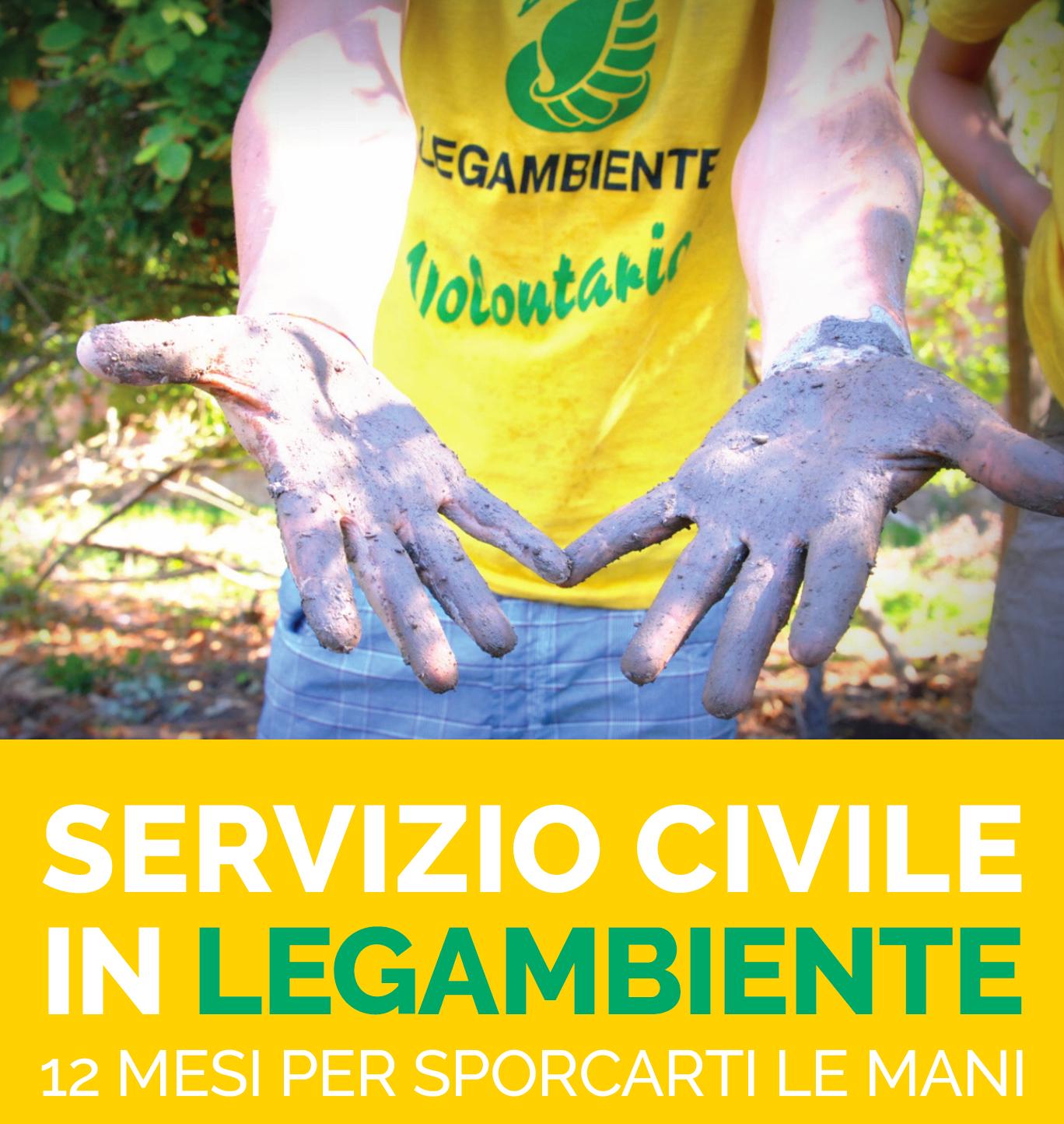 Servizio civile in Legambiente: 12 mesi per sporcarti le mani