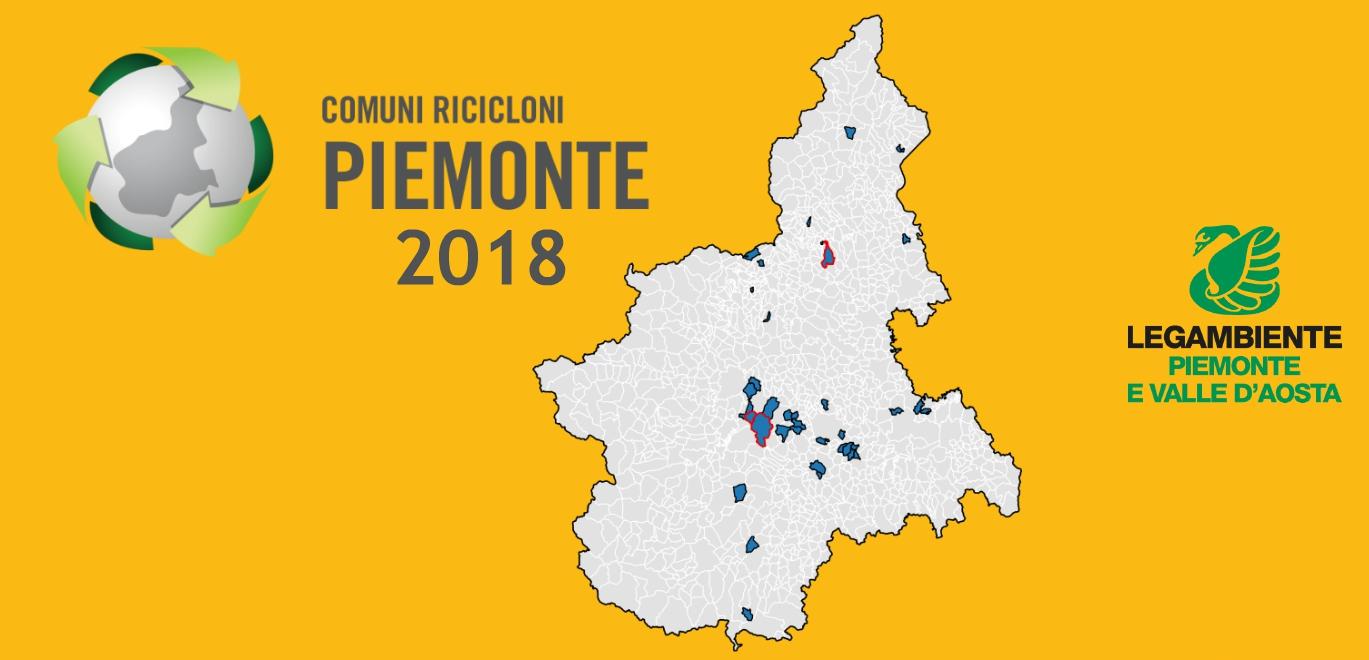 Piemonte, soltanto un terzo dei Comuni raggiunge il 65% di raccolta differenziata previsto per legge. Sono 36 i Comuni Rifiuti Free