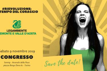 Invito congresso Legambiente Piemonte e Valle d'Aosta - 9 novembre 2019